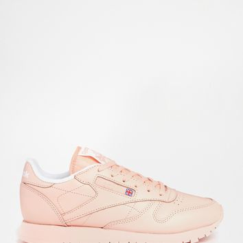 Reebok CL Coral Leather Trainers