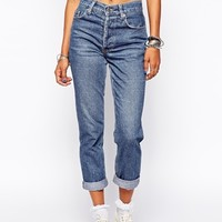Milk It Vintage High Waisted Mom Jeans