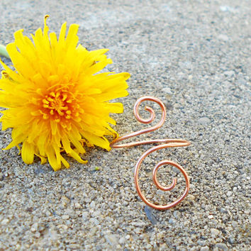 Copper ring, Simple ring, minimalist ring, copper wire ring, bohemian ring, custom ring, hippie ring, swirl wire ring, gypsy jewelry, boho