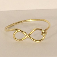 Gold Infinity Ring, Infinity Ring