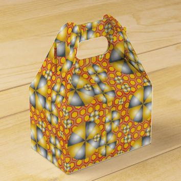 Circles Pattern on a Honeycomb Background Favor Box