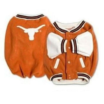 auguau Texas Longhorns Varsity Dog Jacket