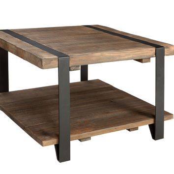 Foxford 27-inch Reclaimed Wood Square Coffee Table