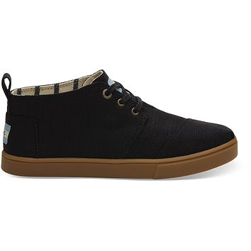 TOMS - Women's Cupsole Venice Collection Black Heritage Canvas Boots