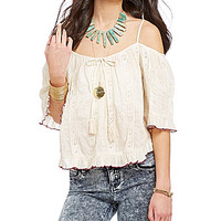 Patrons Of Peace Off-the-Shoulder Top - Ivory