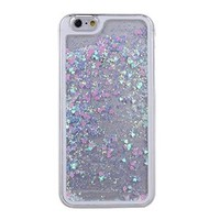 """IKASEFU iPhone 6 Case,iPhone 6 Case 4.7"""" Cover,Liquid Case for iPhone 6,Bling Case for iPhone 6,Hard Case for iPhone 6, Creative Design Cute Flowing Liquid Floating Luxury Bling Glitter Sparkle Love Heart Hard Case for Apple iPhone 6 with 4.7 inch Screen(H"""