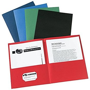 Avery Two-Pocket Folders, Assorted Colors, Box of 25 (47993)