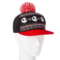 Men's Nightmare Before Christmas Jack Pom Baseball Cap Black