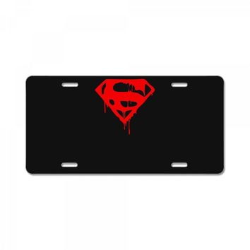 dripping blood superman License Plate