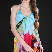 Butterfly and Floral Print High-End Pertama Sarong