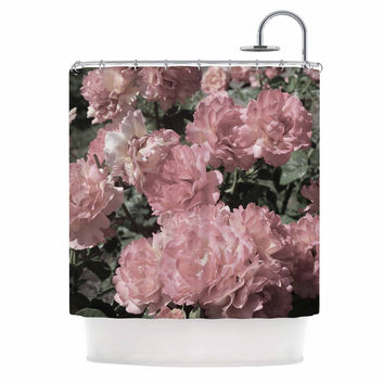 "Susan Sanders ""Blush Pink Flowers"" Floral Photography Shower Curtain"
