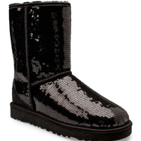 UGG Australia Women's Classic Sparkle Short Boots Shoes 3161 at BareNecessities.com