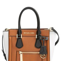 Women's MICHAEL Michael Kors 'Medium Colette' Zip Leather Satchel