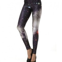 Leggings in Photographic Galaxy Print