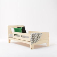 Kids single beds perfect for transition from a cot & for older children. 100% European Birch ply, no metal screws. By Totem Italia for Plyroom