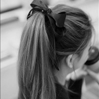 ribbon on ponytail - Google Search