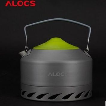 ALOCS brand 0.9L Portable Ultra-light Outdoor Hiking Camping Survival Water Kettle Teapot Coffee Pot Oxide Aluminum