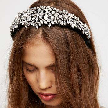 Free People Encrusted Crystal Headband