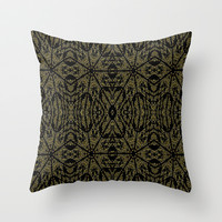 Golden Darkness Throw Pillow by 2sweet4words