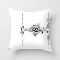 Star Wars Vehicle Tie Fighter Throw Pillow by Nicholas Hyde