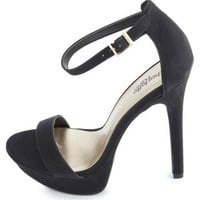 Classic Ankle-Strap Dress Sandals by Charlotte Russe - Black
