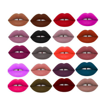 Women Makeup Waterproof Matte Velvet Liquid Lipstick Long Lasting Lip Gloss Cosmetics Free Shipping