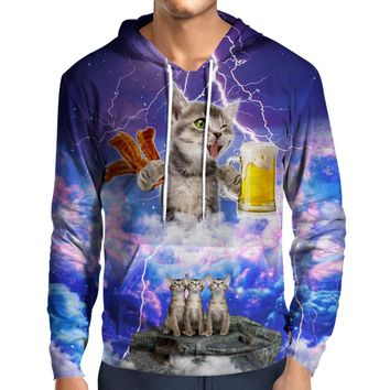 Kitties Love Beer And Bacon Hoodie