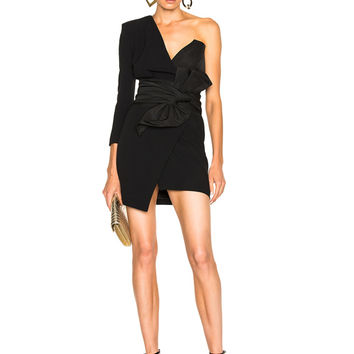 Alexandre Vauthier One Shoulder Dress in Black | FWRD