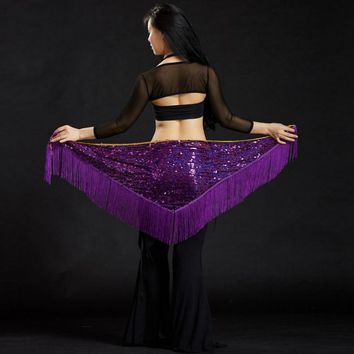 Adult Fringe Sequin Belly Dance Belt Hip Scarves Scarf Oriental Costumes for Sale Women Bellydance Eastern Mermaid Dancing Wear