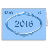 Class of 2016 Graduation Announcement Greeting Card