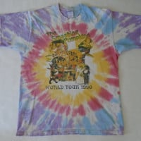 Vintage 1990s THE SMASHING PUMPKINS Tie Dye Shirt Psychedelic Grunge