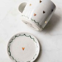 Pickle Pottery Tea Cup And Saucer