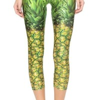Natural Pineapple Performance Leggings