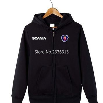 Winter autumn Summer long sleeves heavy truck fans Scania Sweatshirt Hoodies zipper coats workers jackets size S~XXXL