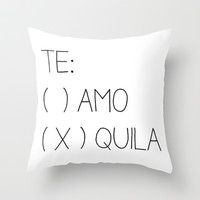 Tequila Throw Pillow by Sara Eshak