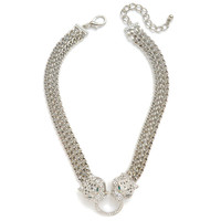Ice Leopard Knocker Necklace