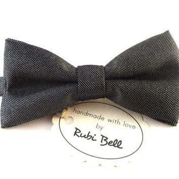 Bow Tie - grey bow tie - man bow tie - men bow tie - gifts for him - classic bow tie