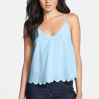 Women's ASTR Scalloped Drape Back Tank,