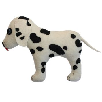 Felted Friend Dalmatian  Stuffed Animal Toy