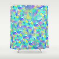Aquatic Tie Dye Shower Curtain by KJ53321