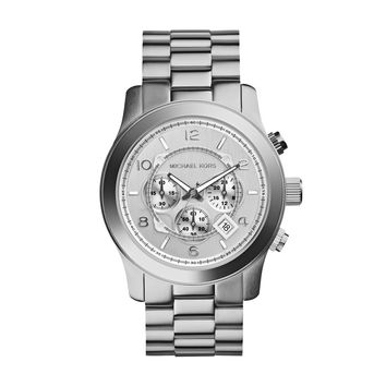 MICHAEL KORS WATCH  MEN SPORT RUNWAY STAINLESS STEEL MK8086
