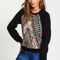 ART DECO QUILTED SWEATER