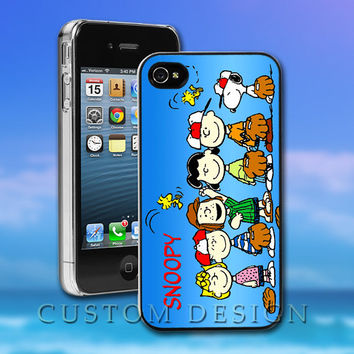 Hard Case Design - Snoopy And Charlie Brown - Custom Print for iPhone 4/4s, iPhone 5, Samsung S3 9300 and Samsung S4 9500