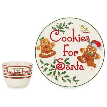 Countdown 'til Christmas 2-piece Cookies for Santa Set by Lenox