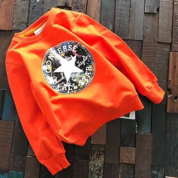 Converse Girls Boys Children Baby Toddler Kids Child Fashion Casual Top Sweater Pullover