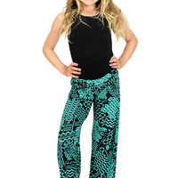 Lori & Jane Green/Black Palazzo Pants | Mod Angel