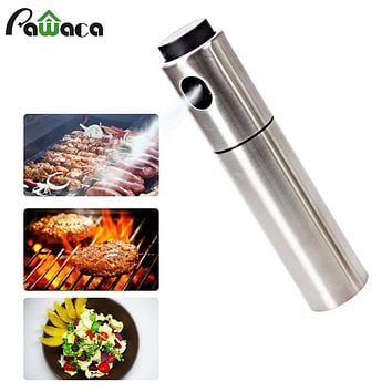 Stainless Steel Vinegar Olive Oil Spray Bottle Soy Sauce Jar Pot Cooking Pump Can for Barbecue Making Salad Kitchen Baking Tools