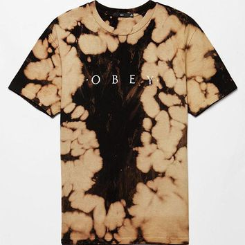 DCCKJH6 OBEY Bleached Novel T-Shirt