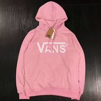 VANS Simple Fashion Print Long Sleeve Top Sweater Pullover Hoodie