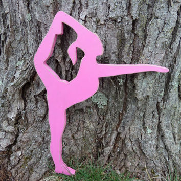 Gymnast, Gymnasts, Wooden Wall Decor, Girls Room Decor, Door Hanging, Pink